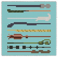 I was inspired by Two Heart Crochet's HP CAL to make more squares. Some were requests from . Cross Stitch Harry Potter, Harry Potter Crochet, Harry Potter Wand, Melty Bead Patterns, Perler Patterns, Beading Patterns, Hamma Beads 3d, Peler Beads, Tiny Cross Stitch