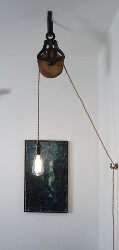 Louden Pulley Lamp Restoration Vintage Hardware Industrial Antiqu Steampunk Loft | eBay
