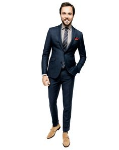 Beautiful suit, great styling. Get a custom suit!