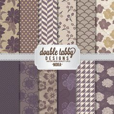 Digital paper pack INSTANT DOWNLOAD  by DoubleTabbyDesigns on Etsy, $4.00