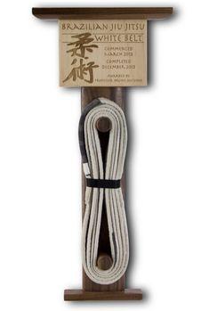 Brazilian Jiu Jitsu Belt Display Custom by RollDesignStudio Very cool way to display your belt.