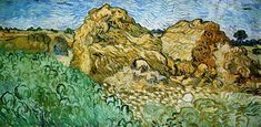 Field with Wheat Stacks Vincent van Gogh Painting, Oil on Canvas Auvers-sur-Oise, France: July, 1890 Vincent Van Gogh, Art Van, Champs, Van Gogh Pinturas, Van Gogh Landscapes, Arte Van Gogh, Van Gogh Paintings, Paintings Online, Impressionism