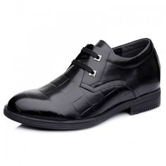 Find 2014 new British business elevator shoes add height 7cm / 2.75inches black tall men dress shoes with SKU: MENGOG_44001 from Topoutshoes online store