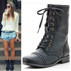 SPRING COMBAT BOOTS Fun & Stylish Combat Boots! ❤️ Shoes