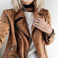 1f3602c6b5d28 Related image Ladies Brown Leather Jacket