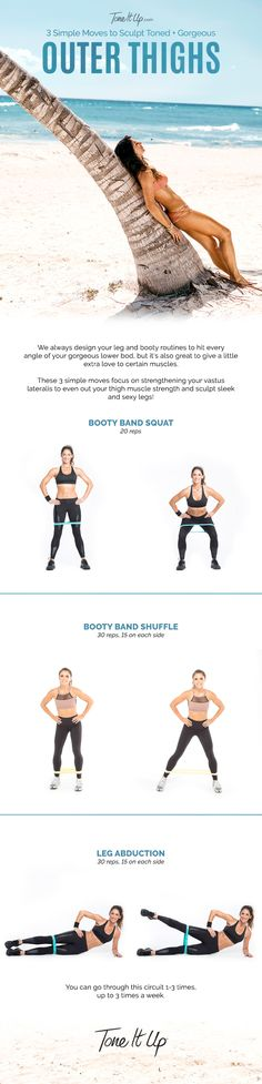 Tighten and tone with these easy tips! #bestouterthighworkout #booty #howdoyoutoneyourouterthighs