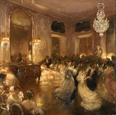 The Ball. Gaston la Touche (French, 1854-1913). Oil on cradled panel.
