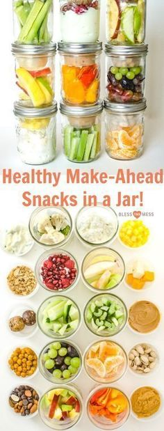 These healthy snacks in jars are a great way to plan ahead and have healthy snacks readily available!