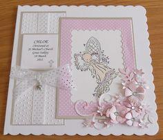 Christening Card for a little girl.  doralindesigns.blogspot.co.uk