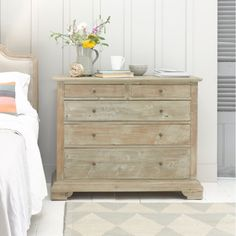 Bleached timber chest of drawers from @loafhome