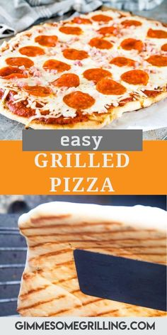 Love a crispy, chewy pizza crust? Tips and tricks on how to make the BEST Grilled Pizza with that perfect crust. It's quicker and easier than you ever thought. Grab your pizza dough and favorite pizza toppings and make this tonight. The flavor combinations are endless! #grilled #pizza via @gimmesomegrilling Outdoor Cooking Recipes, Grilling Recipes, Cooking Chicken To Shred, How To Cook Chicken, Pizza Recipes, Easy Recipes, Dinner Recipes, Grilling Sides, Grilled Pizza