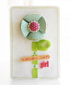 This card uses the We R Memory Keepers Sew Ribbon tool.  #wermemorykeepers #cards #cardmaking