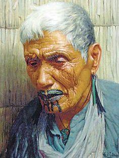 Wiripine Ninia a Ngatiawa Chieftainess 1911 by Goldie
