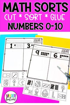 These math picture sorts are a hands-on approach for students to practice and apply number sense skills with numbers 0-10. These are great for whole-class teaching, small group instruction, math centers, independent practice, distance learning, or homework. 2nd Grade Activities, Kindergarten Math Activities, Kids Learning Activities, Teaching Math, Teaching Ideas, Special Education Math, Math Education, First Grade Teachers, 1st Grade Math