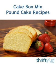 Pound cake can be made very easily if you use a cake box mix to start with. This page contains cake box mix pound cake recipes.