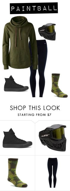 """""""Paintball"""" by this-blonde-girl-is-alive on Polyvore featuring Converse, Wigwam, NIKE, Victoria's Secret, women's clothing, women, female, woman, misses and juniors"""