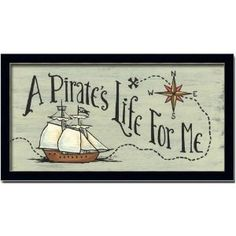 Pirate Wall Decor - A Pirates Life For Me. Could I change my room to a pirate room? Pirate Room Decor, Pirate Nursery, Nautical Nursery, Pirate Theme, Neverland Nursery, Nursery Themes, Room Themes, Nursery Ideas, Bedroom Ideas