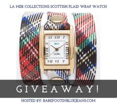 Win a La Mer Limited Edition Scottish Plaid Simple Wrap Watch! Open US and Can #giveaways