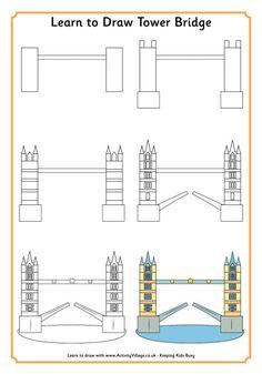 Learn to draw tower bridge