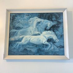 Into the wild, wild blue with this rare Tretchikoff! This 'Wild Horses' print is signed '72 and is such a beauty! Shop online from the On The Wall section of my website. #buckleandfawn #Tretchikoff #VladimirTretchikoff #WildHorses #HorsePrint #massmarketart #retro #retrohome #retroart #1972 #72 #1970s #70s #vintage #vintagehome #myvintagehome #kitsch #blues #midcentury #midcenturyart #midcenturyprint #vintageforsale #midcenturymodern