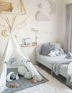 Actually designing and setting kids bedroom isn't so hard you merely have to show little creativity. When it has to do with furniture and interior design of a house, a wall, just enjoy a room shouldn't be bare. Baby Bedroom, Baby Boy Rooms, Baby Room Decor, Nursery Room, Girls Bedroom, Bedroom Decor, Nursery Decor, Room Baby, Trendy Bedroom