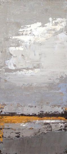 "Contemporary Marsh Study 24"" x 10"", acrylic on cradled panel. ©2014 Cara Gonier"
