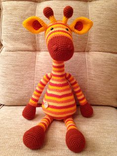 Amigurumi Giraffe from a Stip and Haak pattern