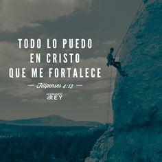 """""""Todo lo puedo en Cristo que me fortalece""""(Filipenses 4:13)"""