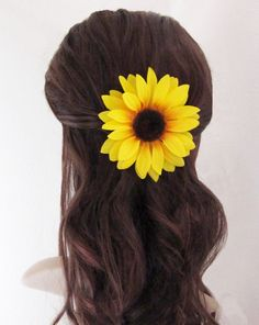 4 Sunflower Choice of Attachment Flower Brooch by TheVelvetBegonia