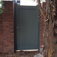 Curley Aluminium Side Gate - from Arden Gates Ltd UK Side Gates, Front Gates, Entrance Gates, Front Doors, Front Porch, Wooden Garden Gate, Wooden Gates, Garden Fencing, Picket Gate