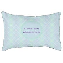 Blue and Purple Argyle Pattern Cat Small Dog Bed