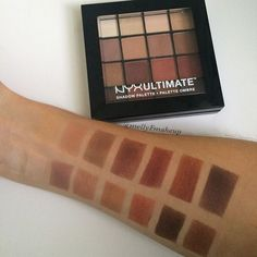 NYX Ultimate Shadow Palette in Warm Neutrals. Follow my instagram @mellyfmakeup for more!