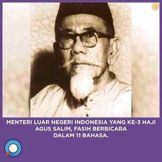 Menteri Luar Negeri Indonesia, Haji Agus Salim fasih berbicara dalam 11 bahasa. Minangkabau, Founding Fathers, Paradox, History, People, Historia, People Illustration, Folk