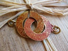 Paprika and Saffron Toggle C Clasp  Patinated by missficklemedia, $12.00