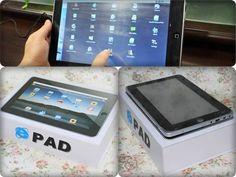 Epad, cópia do iPad com símbolo do Internet Explorer