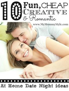 10 fun at-home date ideas on MyMommyStyle.com
