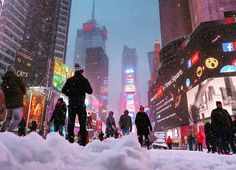 Snow day in New York scenes from Times Sq by Gary Hershorn Photography | newyork newyorkcity newyorkcityfeelings nyc brooklyn queens the bronx staten island manhattan