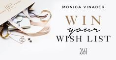 Kate wore this brand just the other week...Now they are giving away jewellry! We've created a dream Monica Vinader wish list. Create your own for a chance to win it! #MVWishes