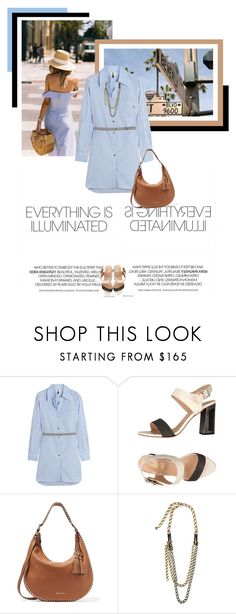 """""""Walking in Sunset Boulevard"""" by veronicamastalli ❤ liked on Polyvore featuring Topshop Unique, Pierre Darré, MICHAEL Michael Kors and Lanvin"""