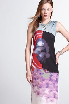 World Of Wonders Column Dress #anthropologie Love this print! And the colors.....