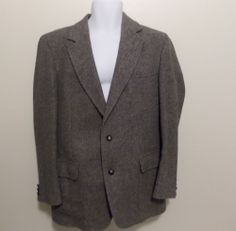 Pendleton Virgin Wool Tweed Blazer Sport Coat 42 Long EUC