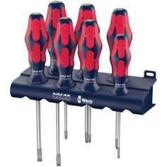 Wera 05227700001 Red Bull Racing Screwdriver Set, Kraftform Plus Lasertip, Rack, *** Check out the image by visiting the link. (This is an affiliate link) Woodworking Tool Cabinet, Woodworking Tools For Sale, Essential Woodworking Tools, Woodworking Organization, Woodworking Clamps, Red Bull, Screwdriver Set, Racing, Aircraft Maintenance
