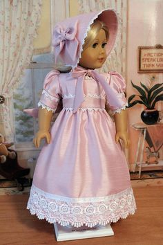 Regency Gown Bonnet and Pantalettes by BabiesArtUs on Etsy, $85.00