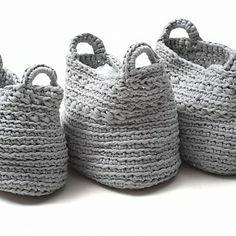 Crochet Baskets Inspiration ❥ 4U // hf