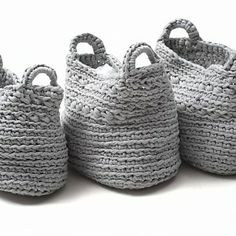 Crochet Baskets Inspiration ❥ 4U // hf