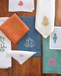 Our Favorite American-Made Companies | Working out of her charming New Orleans studio, Jane Scott Hodges of Leontine Linens isn't just making personalized heirloom linens with a contemporary twist: she's telling a story.  #americanmade #marthastewart