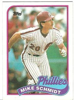 1989 Topps Mike Schmidt Philadelphia Phillies Baseball card Phillies Baseball, Baseball Pitching, Baseball Cards For Sale, Minor League Baseball, Sports Celebrities, Star Cards, Philadelphia Phillies, Chicago White Sox, Schmidt