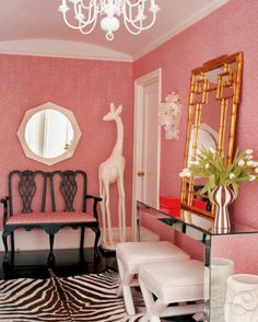 pink and gold bedroom - Google Search
