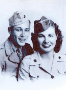 During #WWII, a charming #Marine (soon to be best-selling historical novelist Leon Uris) pursued a pretty staff sergeant with his prose—and eventually won her heart. Click to read the love story!
