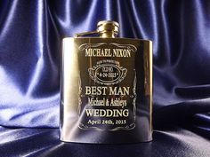 Best Man Personalized engraved Flask - 6oz Engraved Stainless Steel Flask - Best Man gift drinking flask - Wedding gifts - Laser engraved